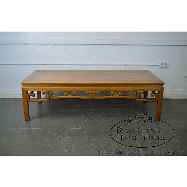 Antique Chinese Ming Style Large Hardwood Coffee Table For Sale - Image 4 of 13
