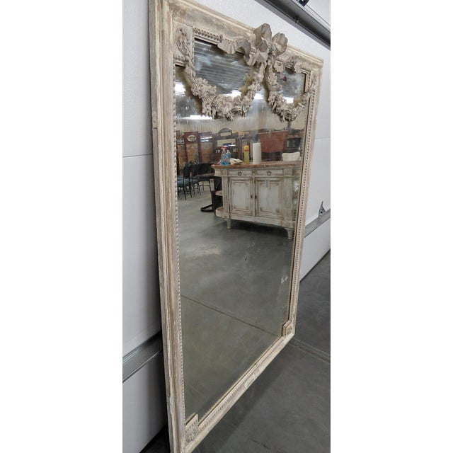 White Louis XVI Style Wall Mirror For Sale - Image 8 of 12
