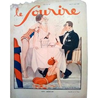 """G. Pavis 1928 """"Gout American"""" Le Sourire Print"""