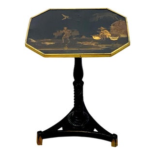 Exquisite Regency Chinoiserie Side Table For Sale