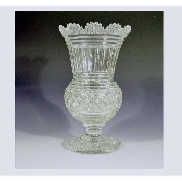Glass Regency Glass Large Celery Vase, Circa 1820. For Sale - Image 7 of 7