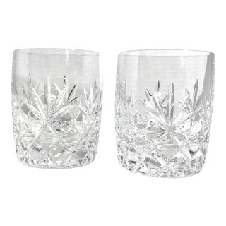 Lenox Charleston Double Old Fashioned Glasses Heavy Barware - a Pair For Sale