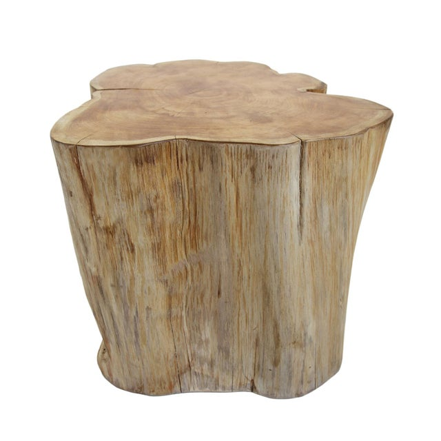 Organic Teak Stump Stool For Sale - Image 4 of 4