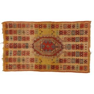 Vintage Berber Moroccan Rug - 5′ × 8′4″ For Sale