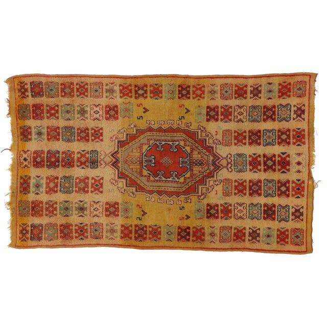 Vintage Berber Moroccan Rug - 5′ × 8′4″ - Image 1 of 3