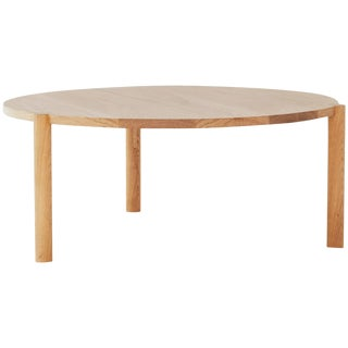 Wc1 Cocktail Table by Ash Nyc in White Oak For Sale