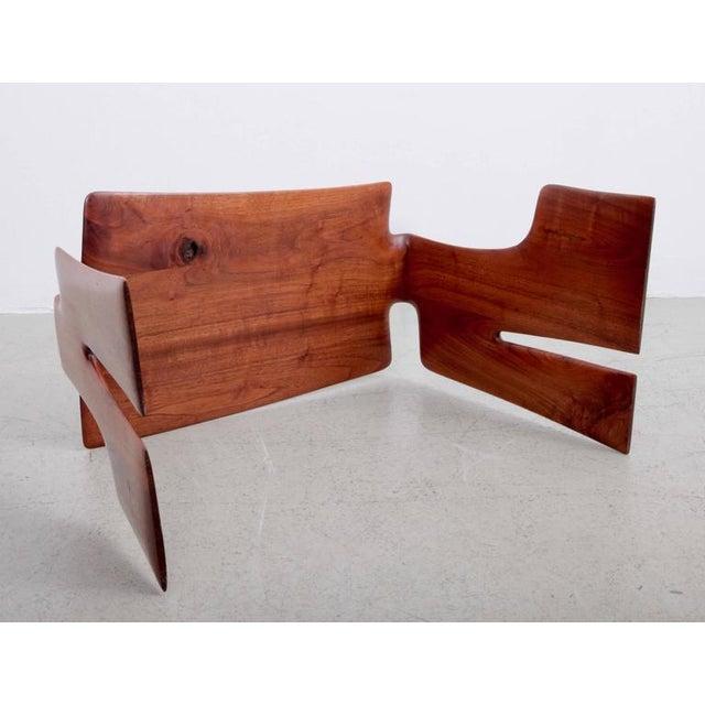 Walnut Robert A. Schultz Studio Side Table in Solid Walnut For Sale - Image 7 of 8