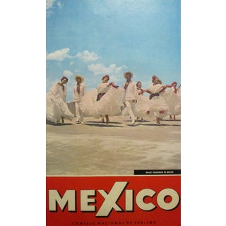 "Original 1950s ""Ballet Folklorico De Mexico"" Travel Poster For Sale"