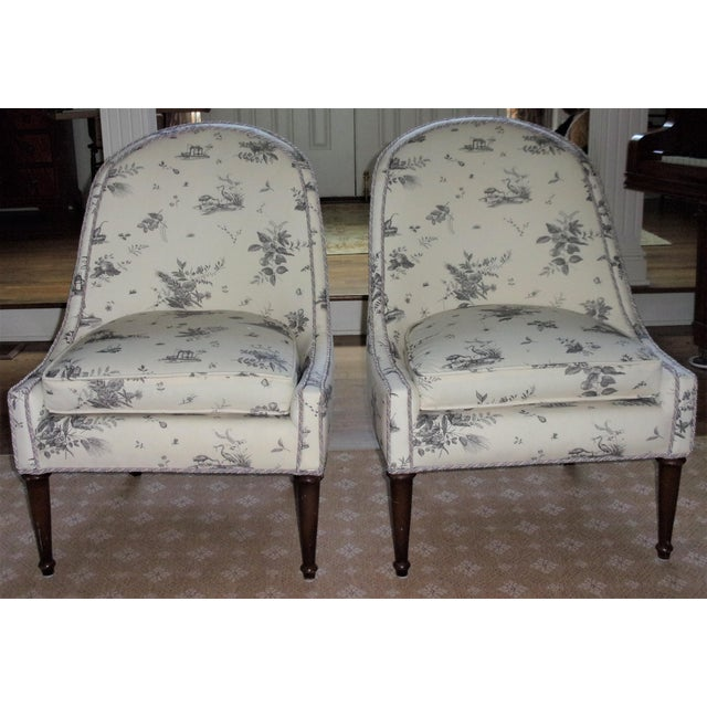 Brunschwig & Fils Upholstered Chairs - A Pair For Sale - Image 9 of 9
