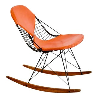 Mid Century Modern Eames Rkr Rocking Accent Chair 1st Generation For Sale