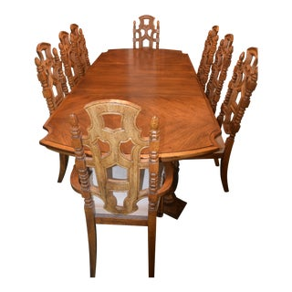 Stanley Dining Room With 8 Chairs For Sale