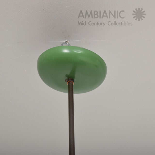 1950s Mid-Century Modern Pistachio Green Tiered Italian Chandelier Lamp, Italy For Sale In San Diego - Image 6 of 11