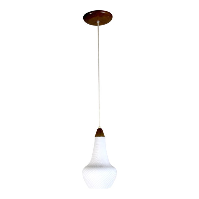 A Pair of Mid Century Pendant Lights - Image 1 of 8