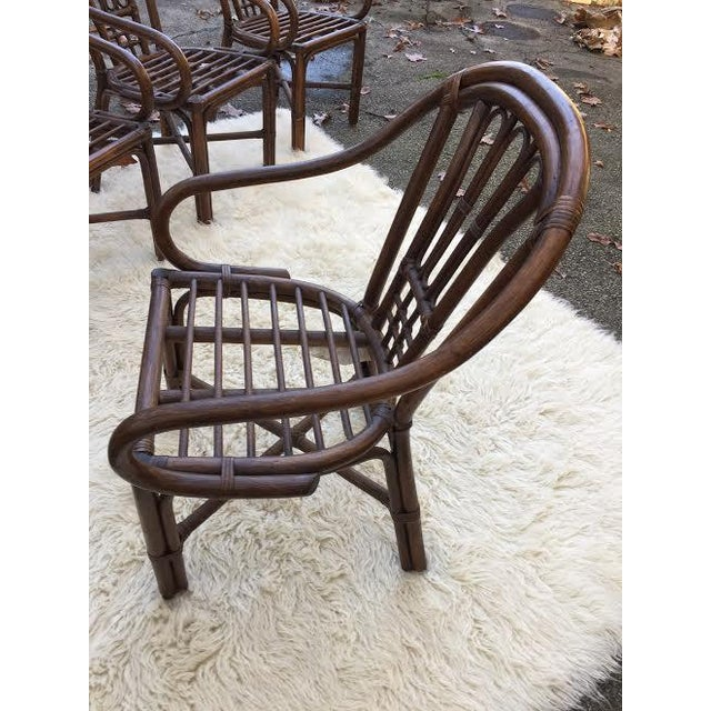 Vintage Rattan Chairs - Set of 4 - Image 7 of 8