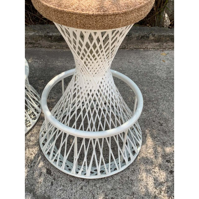 Russell Woodard Woven Fiberglass Bar and Two Stools For Sale - Image 11 of 12
