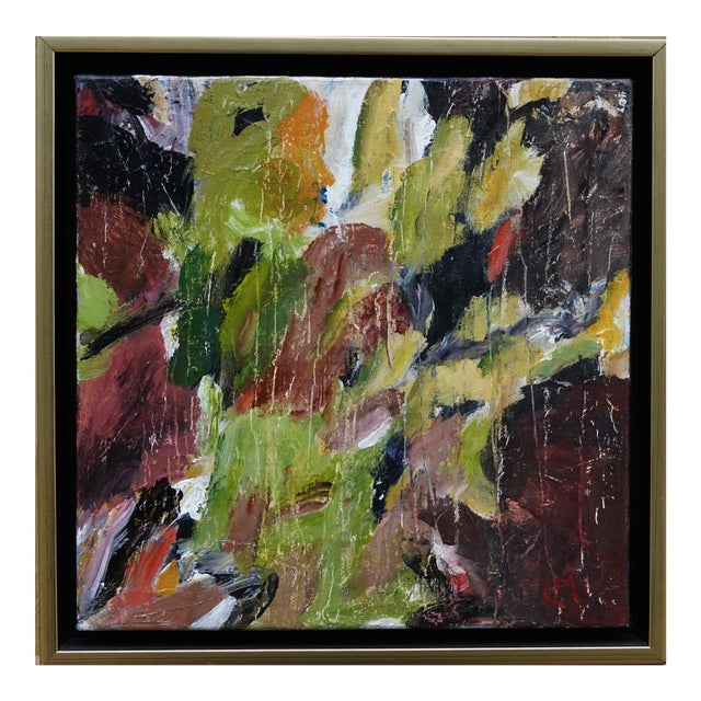 """Laurie MacMillan """"Natural Progression"""" Abstract Painting, Framed For Sale"""