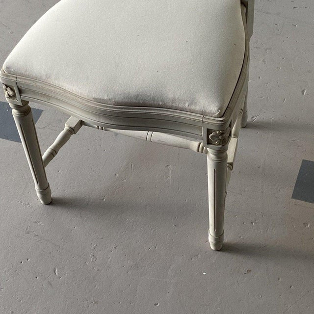 Ivory Mid 20th Century Swedish Dining Chairs - A Pair For Sale - Image 8 of 12