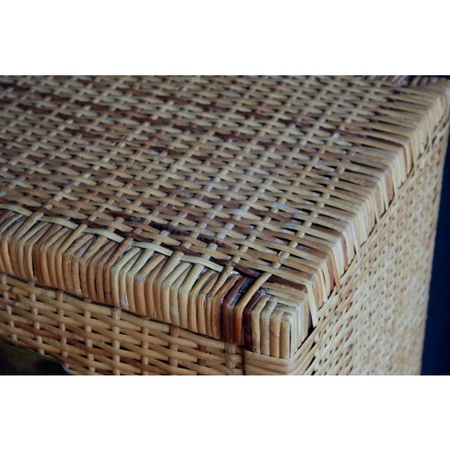 Bronze Lacquered Rattan Bachelor Chest (Pair Available) For Sale - Image 7 of 13