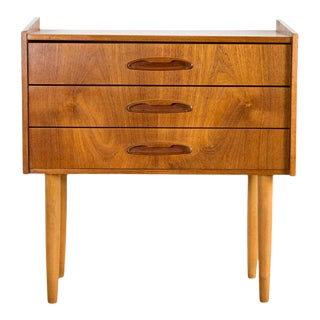 Danish Teak and Beech 3-Drawer Chest by Aerthoj Jensen & Molholm For Sale