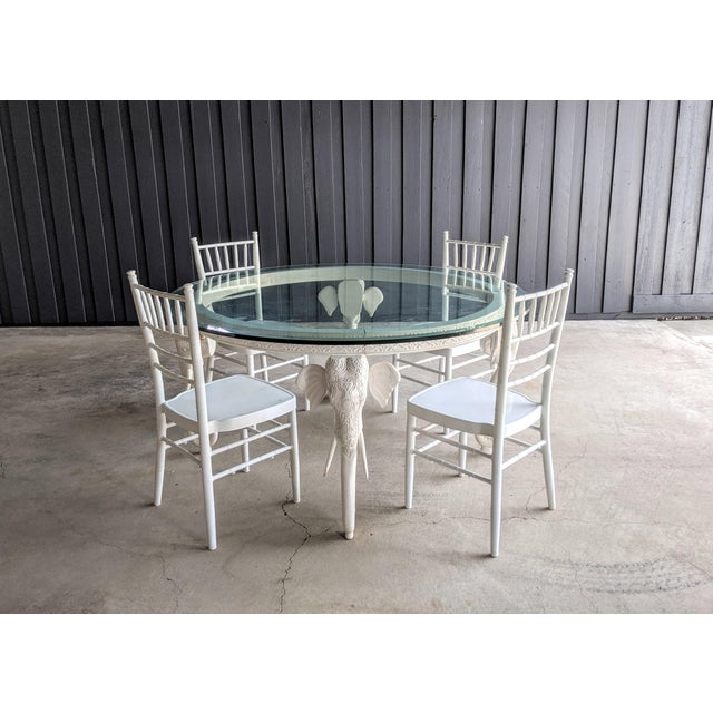 Incredible potential for a statement piece. Gampel-Stoll style elephant dining table that is in need of reinforcement,...