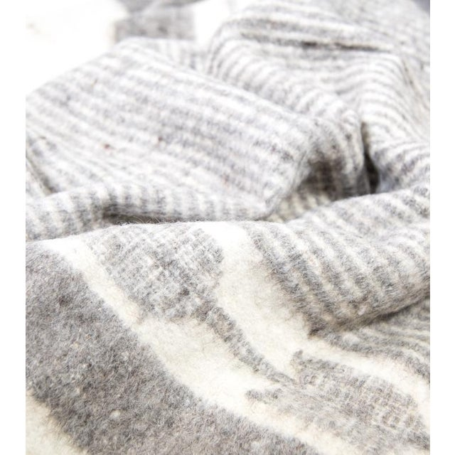 Grey & White Wool Blanket - Image 3 of 6