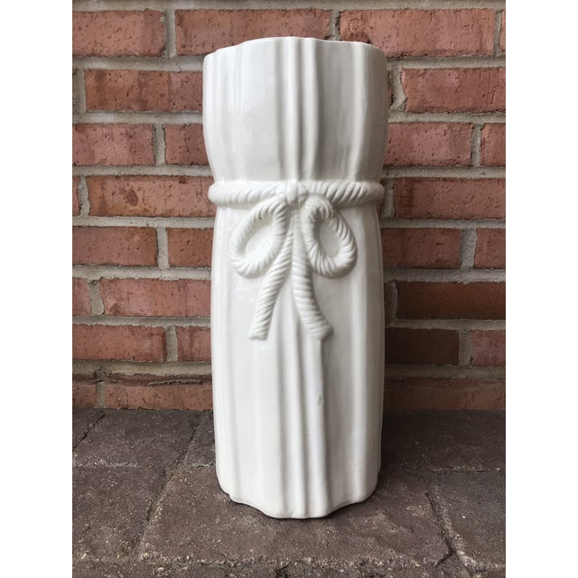 1970s Vintage Draped Ceramic Umbrella Stand For Sale - Image 12 of 12