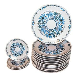 """Vintage Noritake """"Blue Moon"""" Dinnerware - Set of 16 For Sale"""