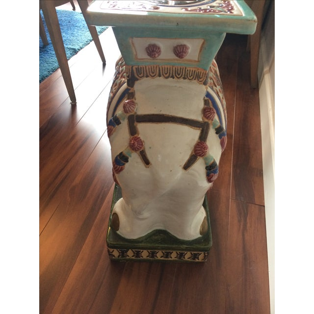 Vintage Asian Elephant Garden Stool or Side Table - Image 4 of 8