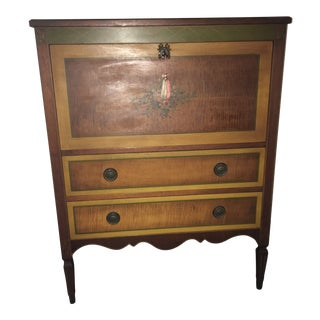 1920s French Hand-Painted Gentleman's Chest For Sale