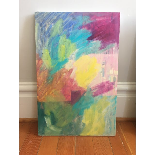 Original Abstract Painting on Wood - Image 3 of 6