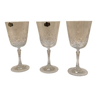 "Vintage Kristal Zajecar in the Style of ""Rogaska"" Crystal - Set of 3 For Sale"