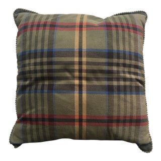 Plaid Throw Pillow For Sale