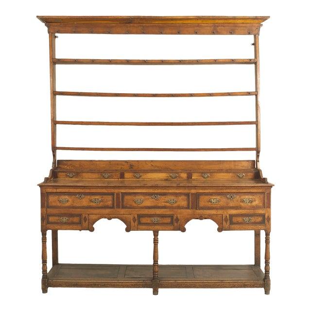 18th Century English Country Open Shelf Oak Sideboard For Sale