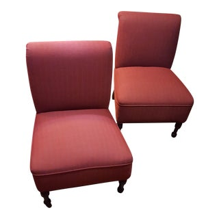 Red Accent Bombay Co. Slipper Chairs - A Pair
