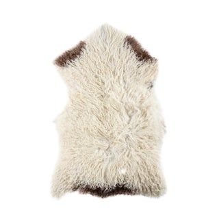 "Contemporary Long Wool Sheepskin Pelt, Handmade Rug - 2'0""x3'1"""