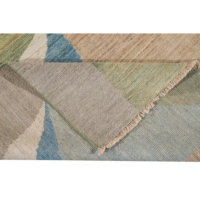Textile 21st Century Modern Deco Wool Rug For Sale - Image 7 of 11