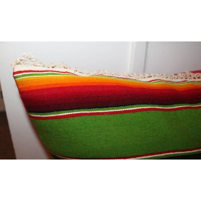 Pair of Monumental Serape Bolster Pillows For Sale - Image 4 of 9
