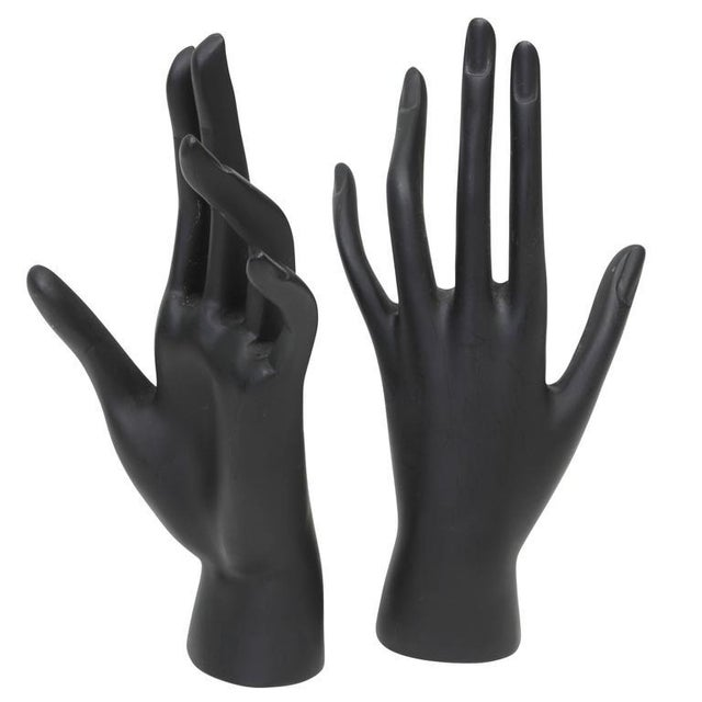 Mid-Century Modern Cast Resin Mannequin Hands Sculpture - A Pair For Sale - Image 3 of 3