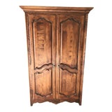 Image of French Country Ethan Allen Armoire For Sale