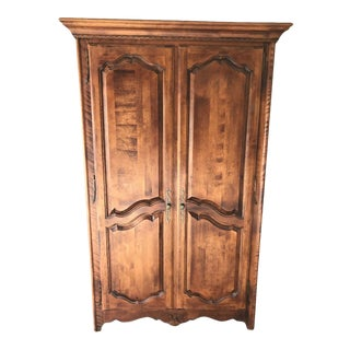 French Country Ethan Allen Armoire For Sale