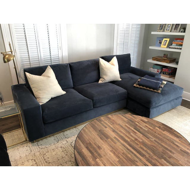 We had this couch custom made at Style de Vie on Beverly Blvd in Los Angeles. It is in PERFECT condition! We are re-...
