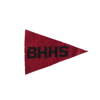 Vintage Bhhs Felt Flag Pennant For Sale