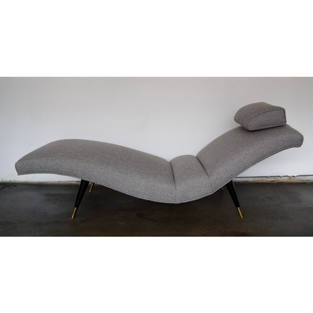 Adrian Pearsall Mid-Century Modern Gray Tweed Daybed or Chaise Lounge For Sale - Image 4 of 11