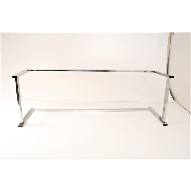 Mid-Century Modern Chrome & Glass Coffee Table - Image 11 of 11