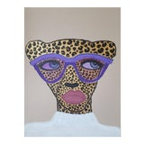 """Image of """"Purple Shades Cheetah"""" Mixed Media Drawing *Price Is Firm* For Sale"""