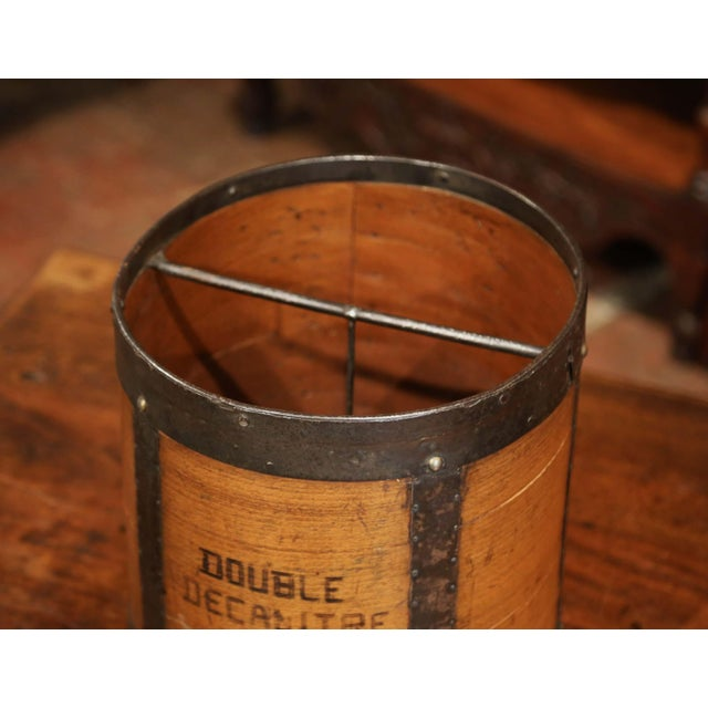 Brown Mid-19th Century French Walnut and Iron Grain Measure Basket With Inside Handle For Sale - Image 8 of 11