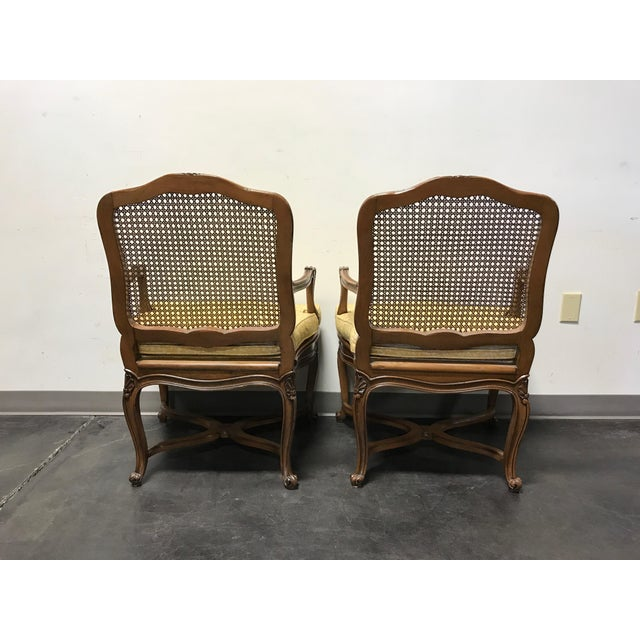 Carved French Style Open Armchairs with Cane Backs - A Pair - Image 9 of 11
