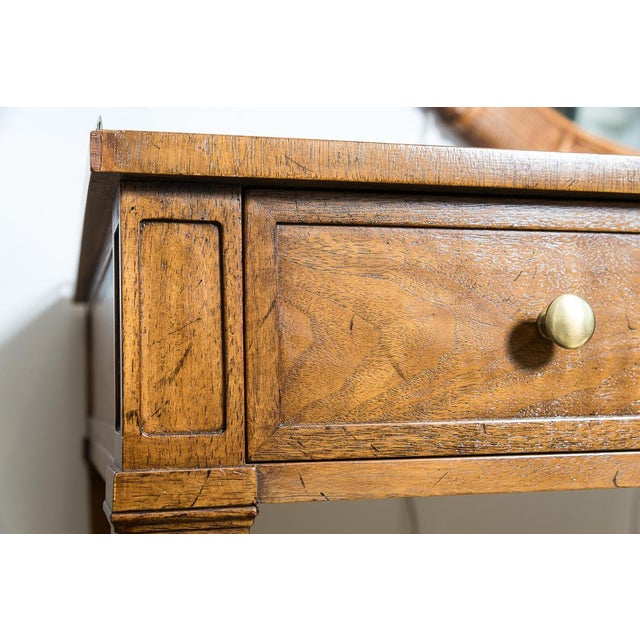 Vintage French Style Brass Gallery Writing Desk by Milling Road for Baker For Sale - Image 10 of 13