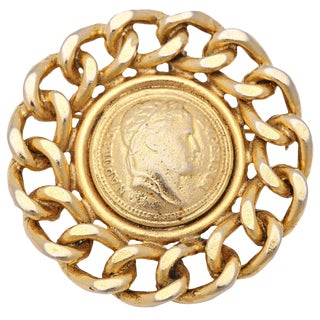 Large Coin Brooch or Pendant by Graziano For Sale