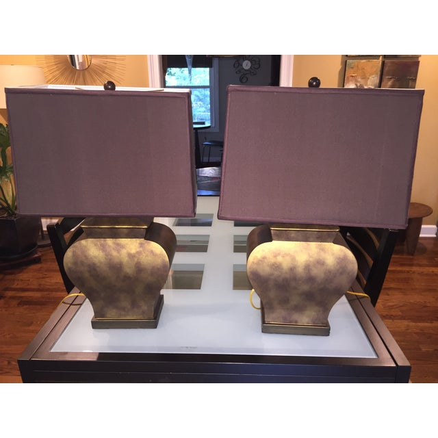 Vintage Bronze Urn Lamps - A Pair - Image 2 of 5